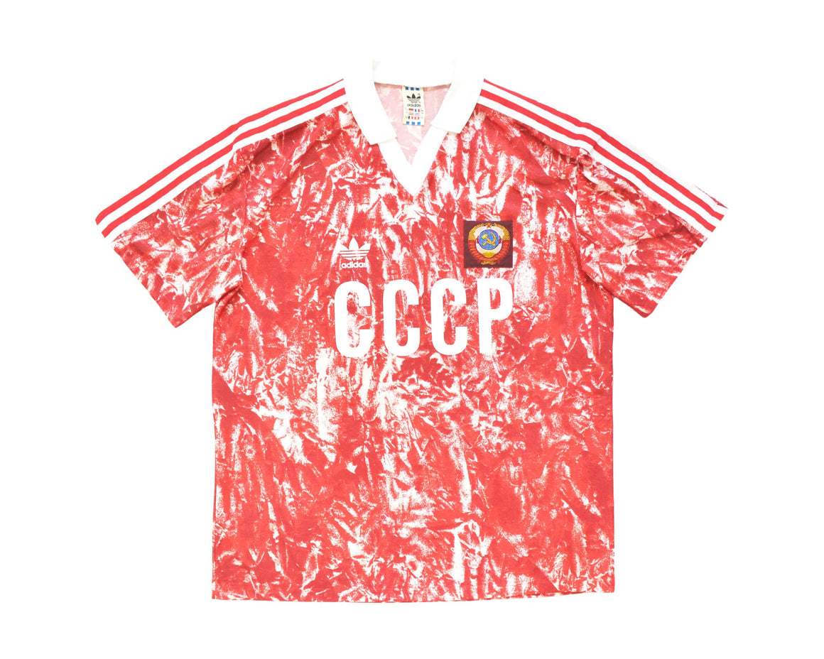 Calcio Vintage Club 1989-91 Adidas Soviet Union Home Shirt L