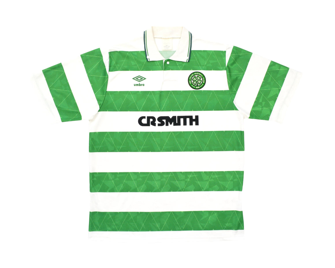 Calcio Vintage Club 1989-91 Umbro Celtic Home Shirt L