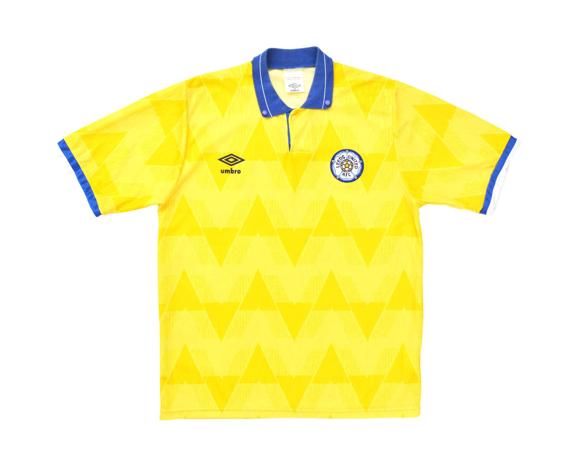 Calcio Vintage Club 1989-91 Umbro Leeds United Away Shirt M