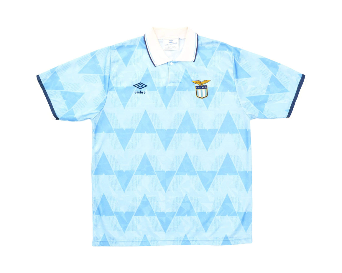 Calcio Vintage Club 1990-91 Umbro Lazio Home Shirt L