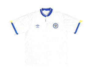 Calcio Vintage Club 1990-91 Umbro Leeds Home Shirt L