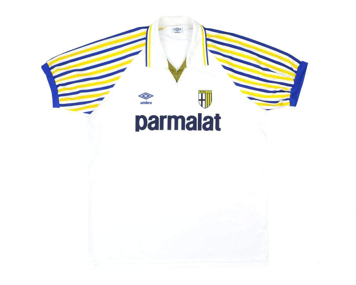 Calcio Vintage Club 1990-91 Umbro Parma Home Shirt L