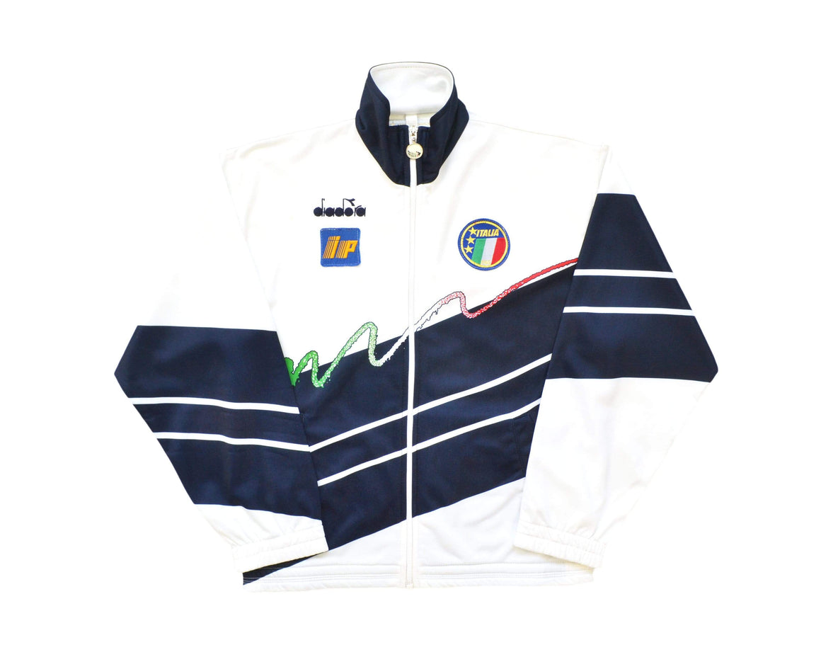 Calcio Vintage Club 1990-92 Player Issue Diadora Italy Track Jacket L