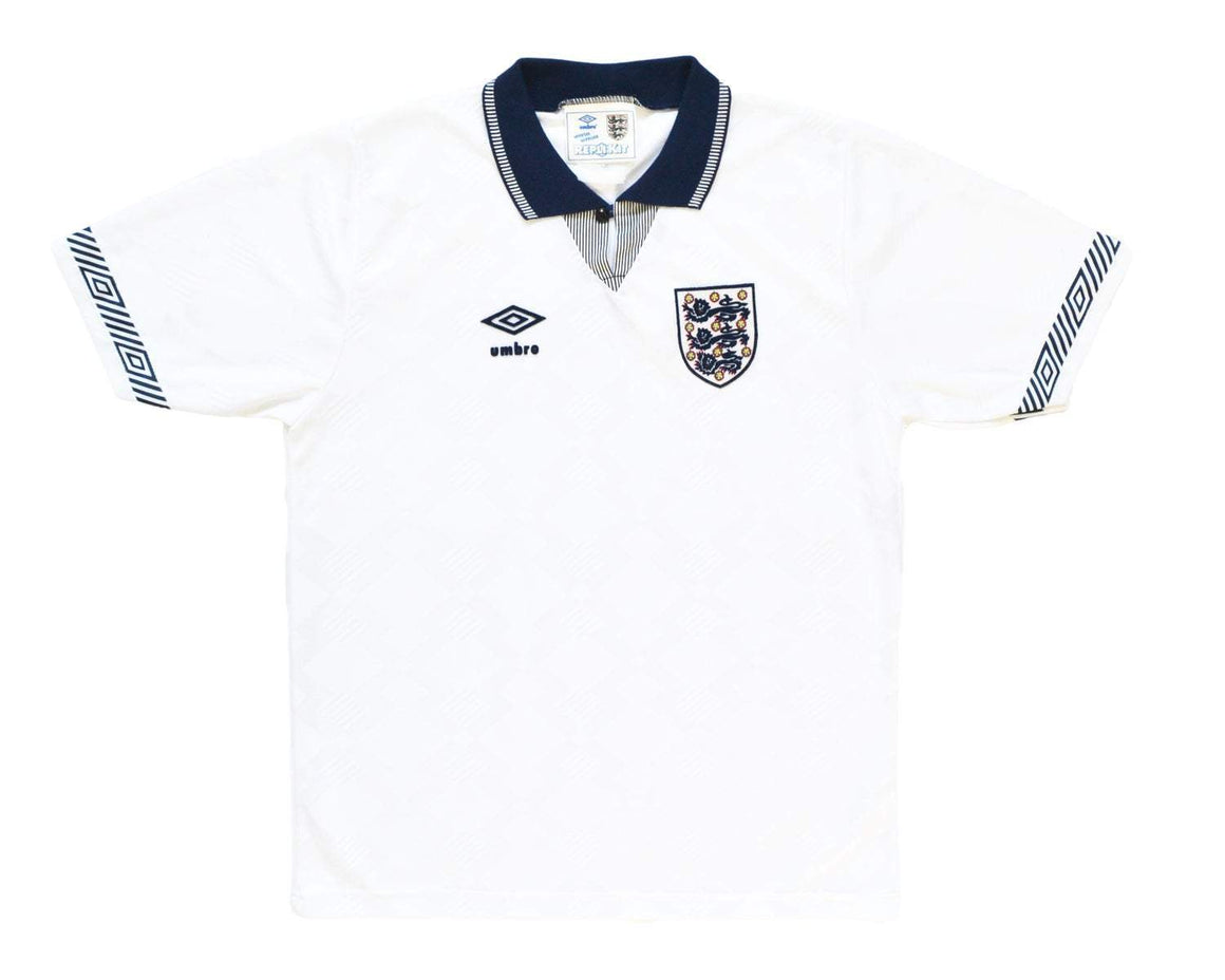 Calcio Vintage Club 1990-92 Umbro England Home Shirt S