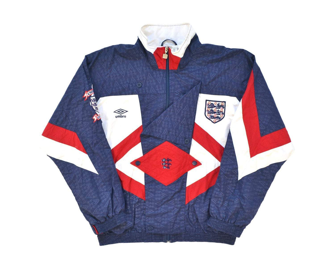 1990-92 Umbro England Track Top L - Football Shirt Collective