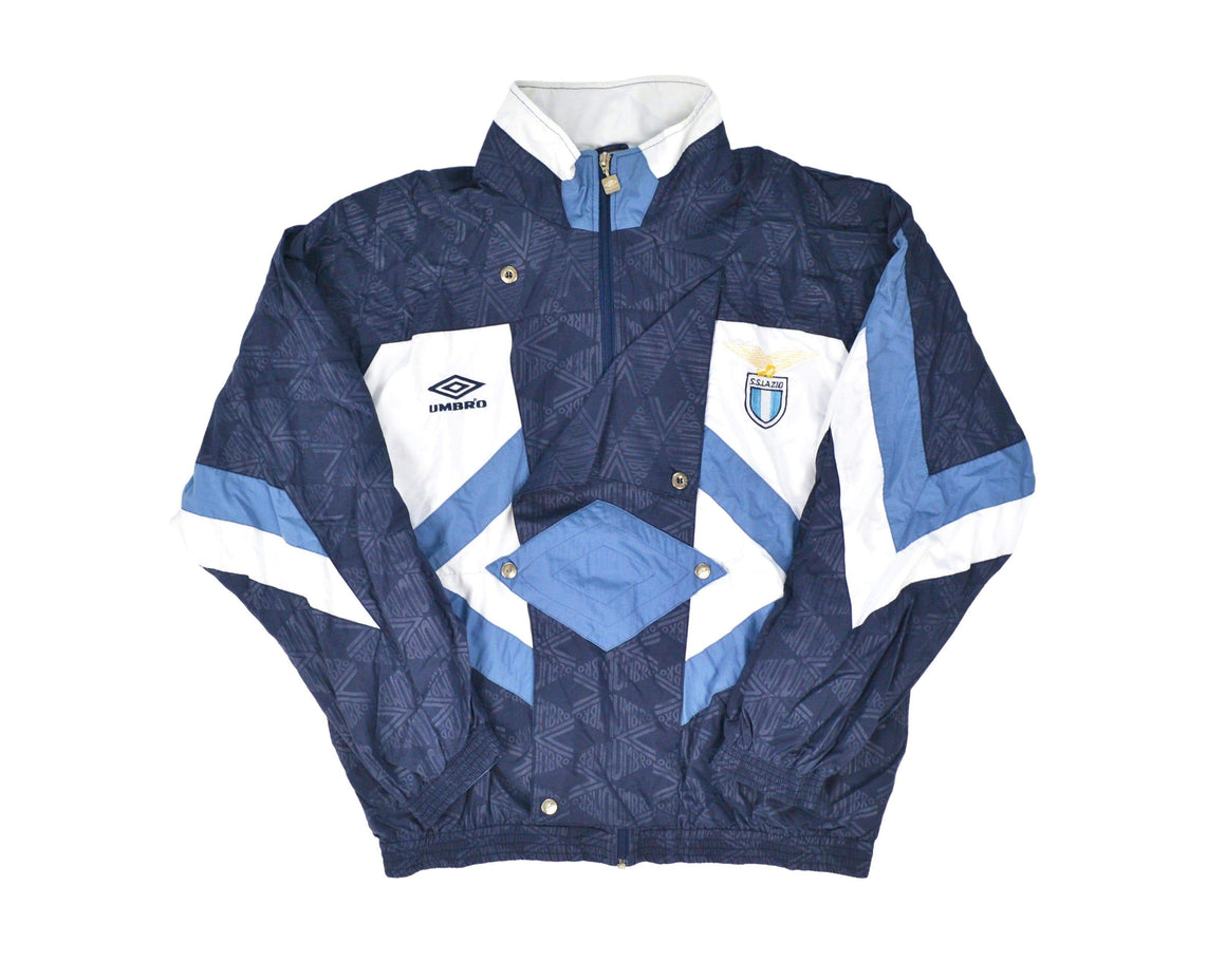 1990-92 Umbro Lazio Tracksuit Top L - Football Shirt Collective