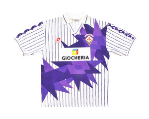 Calcio Vintage Club 1991-92 Lotto Fiorentina Away Shirt L