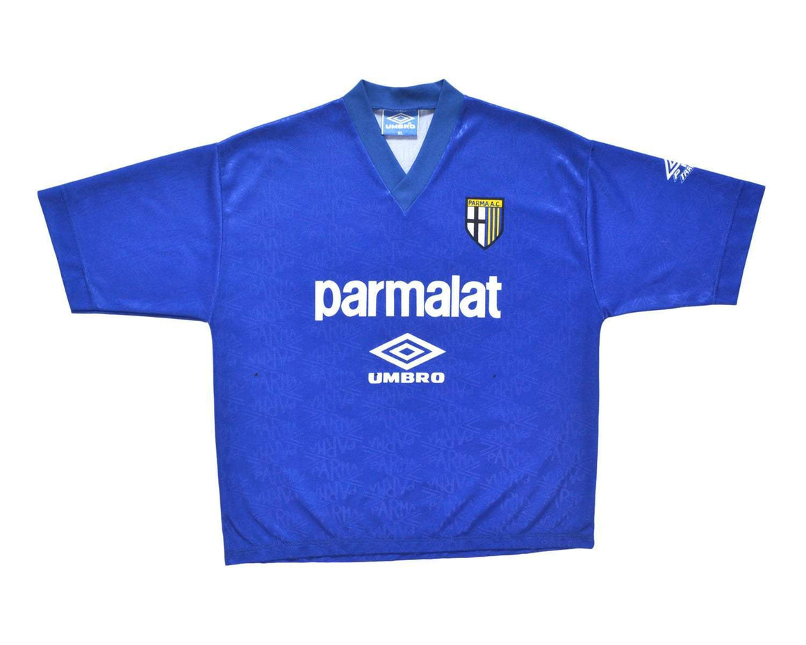 1991-92 Umbro Parma Training Shirt XL - Football Shirt Collective