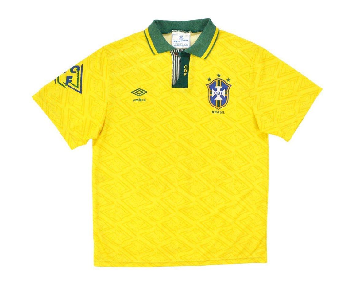 Calcio Vintage Club 1991-93 Umbro Brazil Home Shirt M