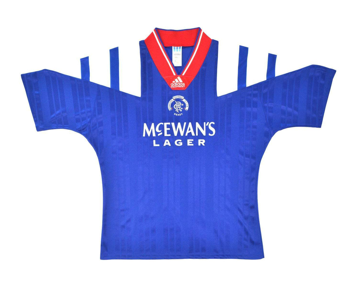 1992-94 Adidas Rangers Home Shirt L - Football Shirt Collective