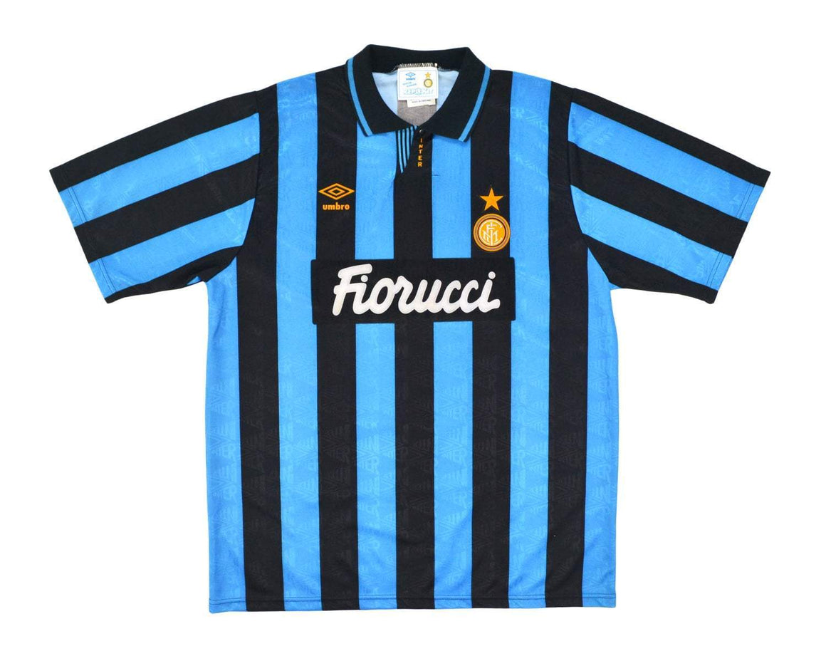 1992-94 Umbro Inter Milan Home Shirt XL '15' - Football Shirt Collective