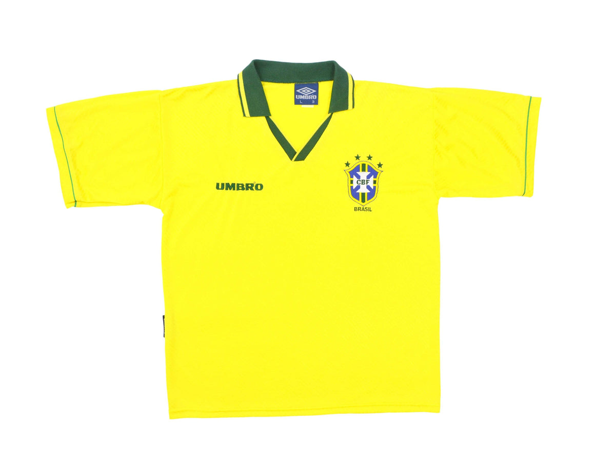 Calcio Vintage Club 1993-94 Umbro Brazil Home Shirt L