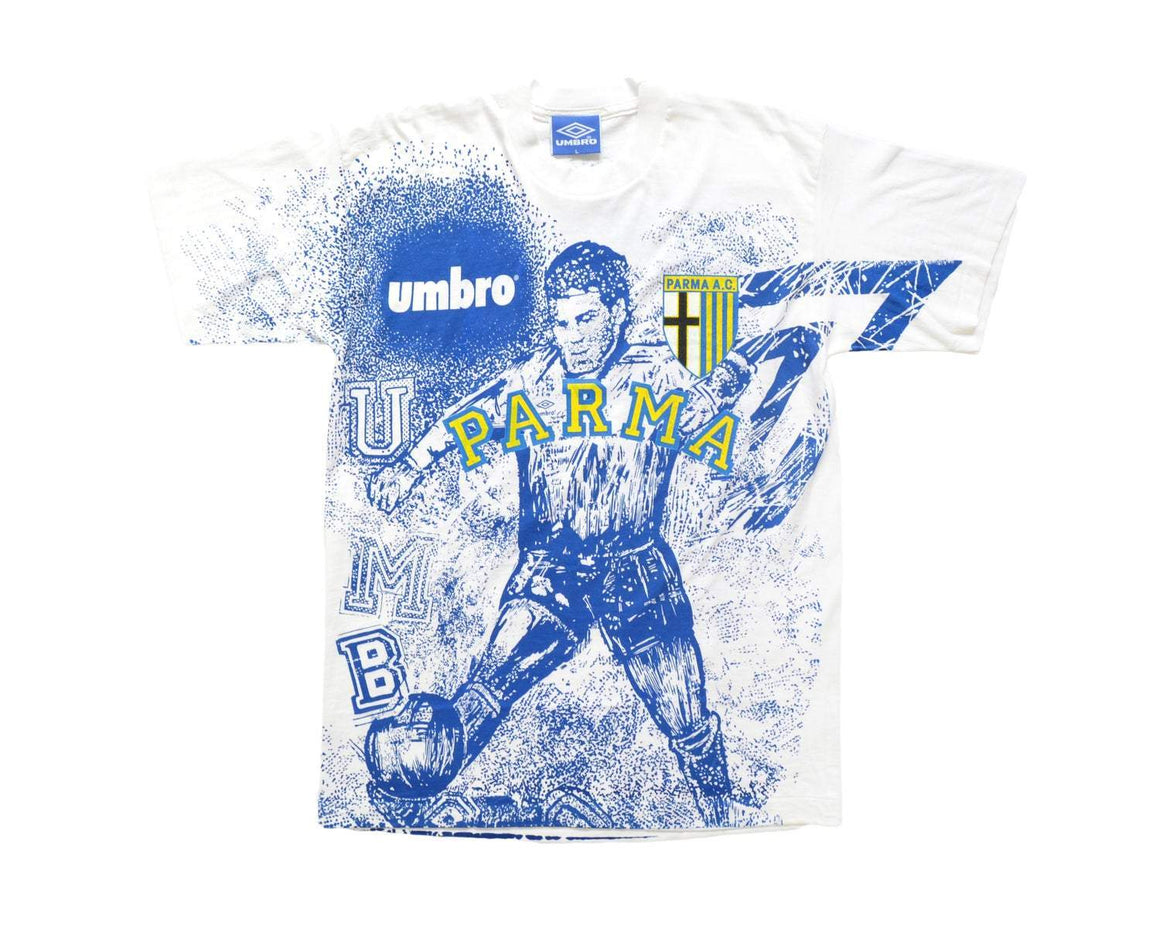 1993-95 Umbro Parma T-Shirt L - Football Shirt Collective