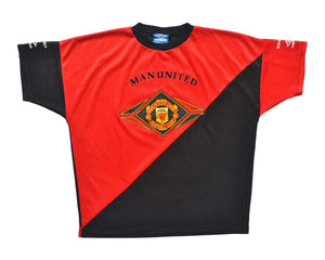 1994-96 Umbro Manchester United Training Shirt XL - Football Shirt Collective