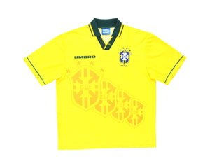 Calcio Vintage Club 1994-97 Umbro Brazil Home Shirt L