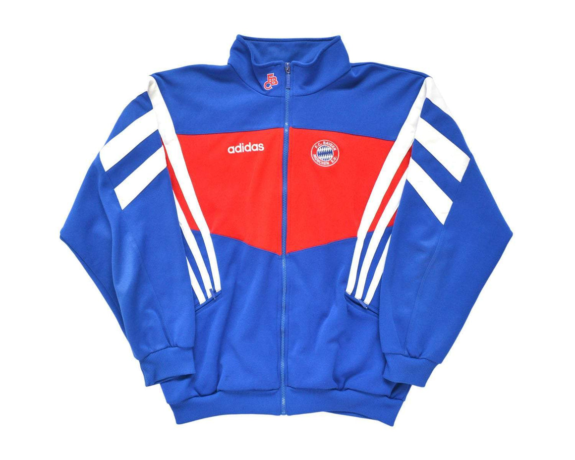 1995-96 Adidas Bayern Munich Track Top XL - Football Shirt Collective