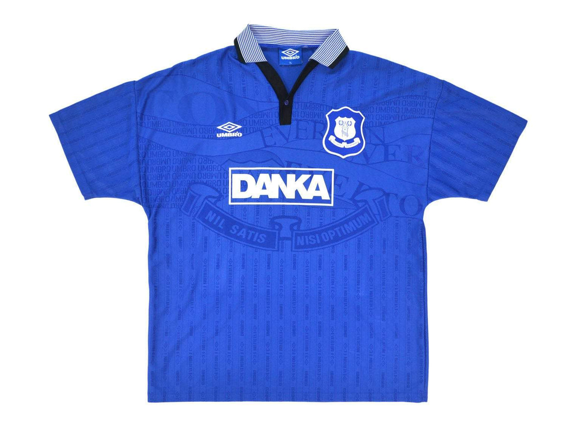 1995-97 Umbro Everton Home Shirt XL - Football Shirt Collective
