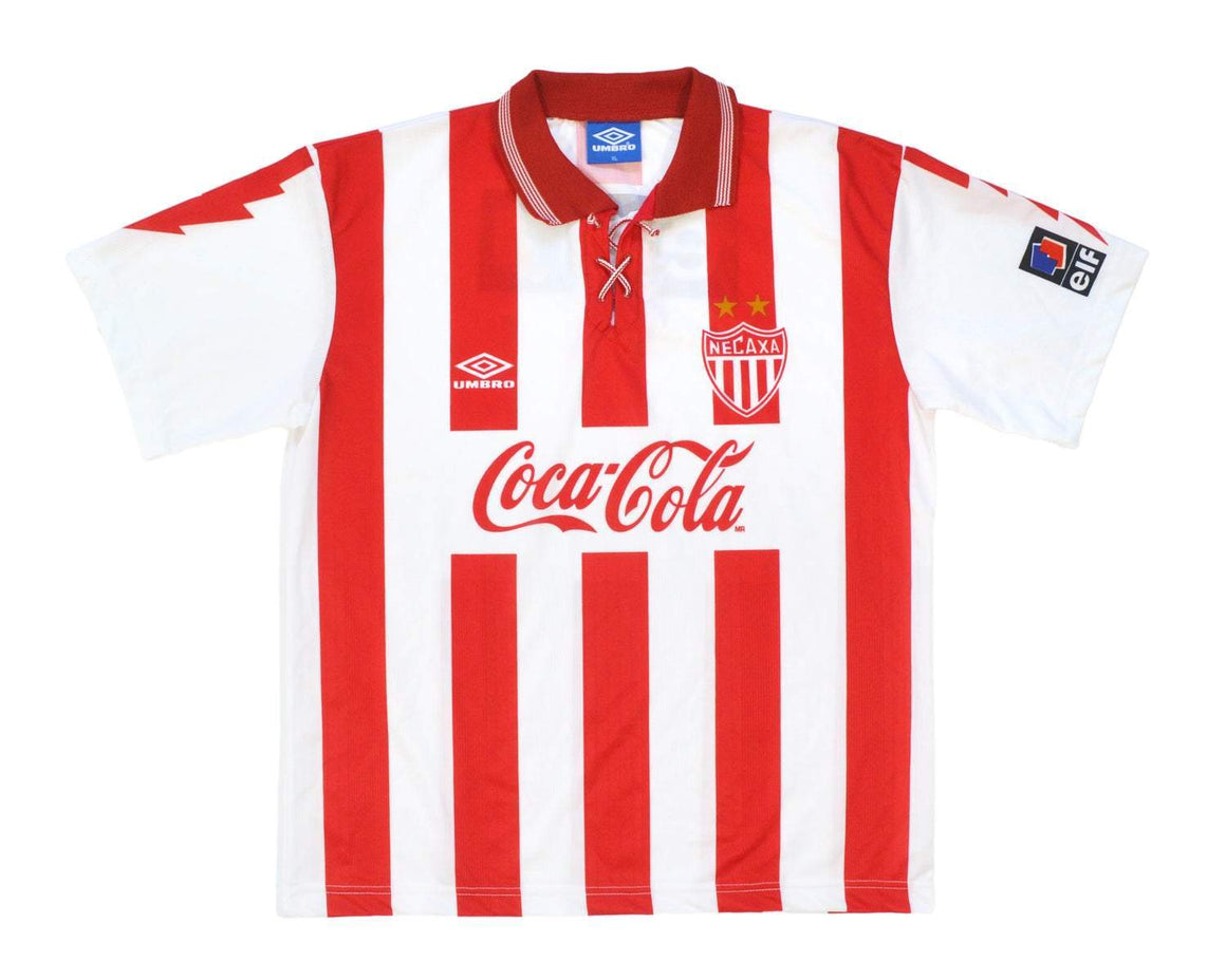 1995-97 Umbro Necaxa Home Shirt XL - Football Shirt Collective