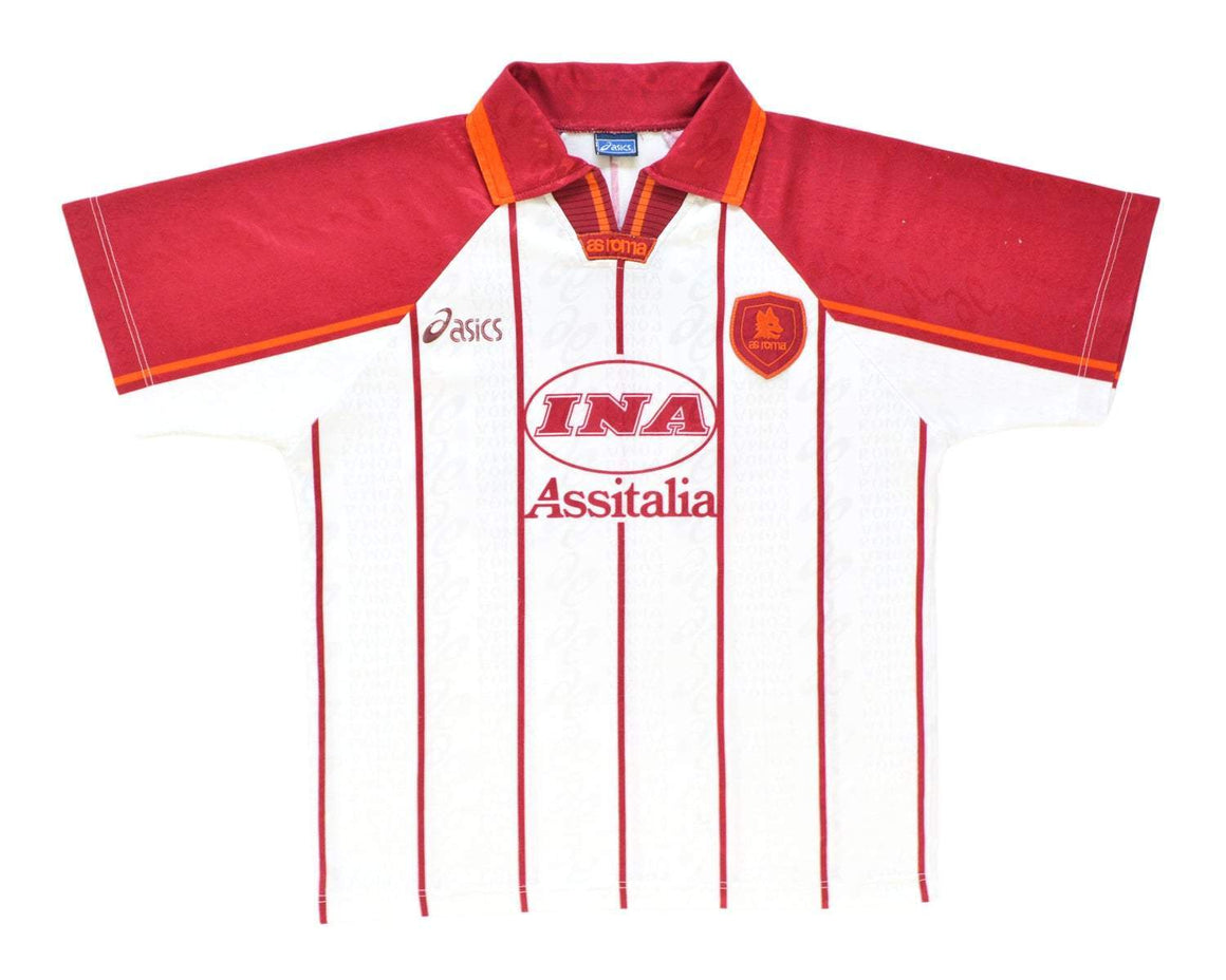 1996-97 Asics AS Roma Away Shirt '10' S - Football Shirt Collective