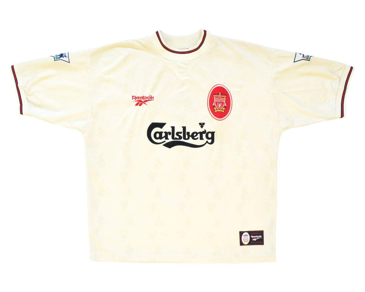 1996-97 Reebok Liverpool Away Shirt XL 'Collymore 8' - Football Shirt Collective