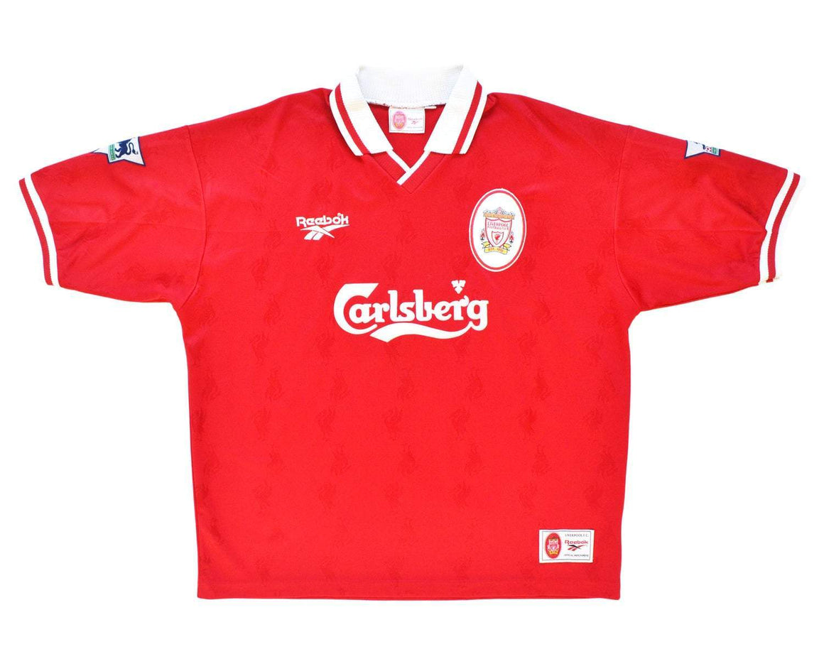 1996-98 Reebok Liverpool Home Shirt XL 'Fowler 9' - Football Shirt Collective