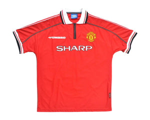Calcio Vintage Club 1998-00 Umbro Manchester United Home Shirt XL 'Sheringham 10'