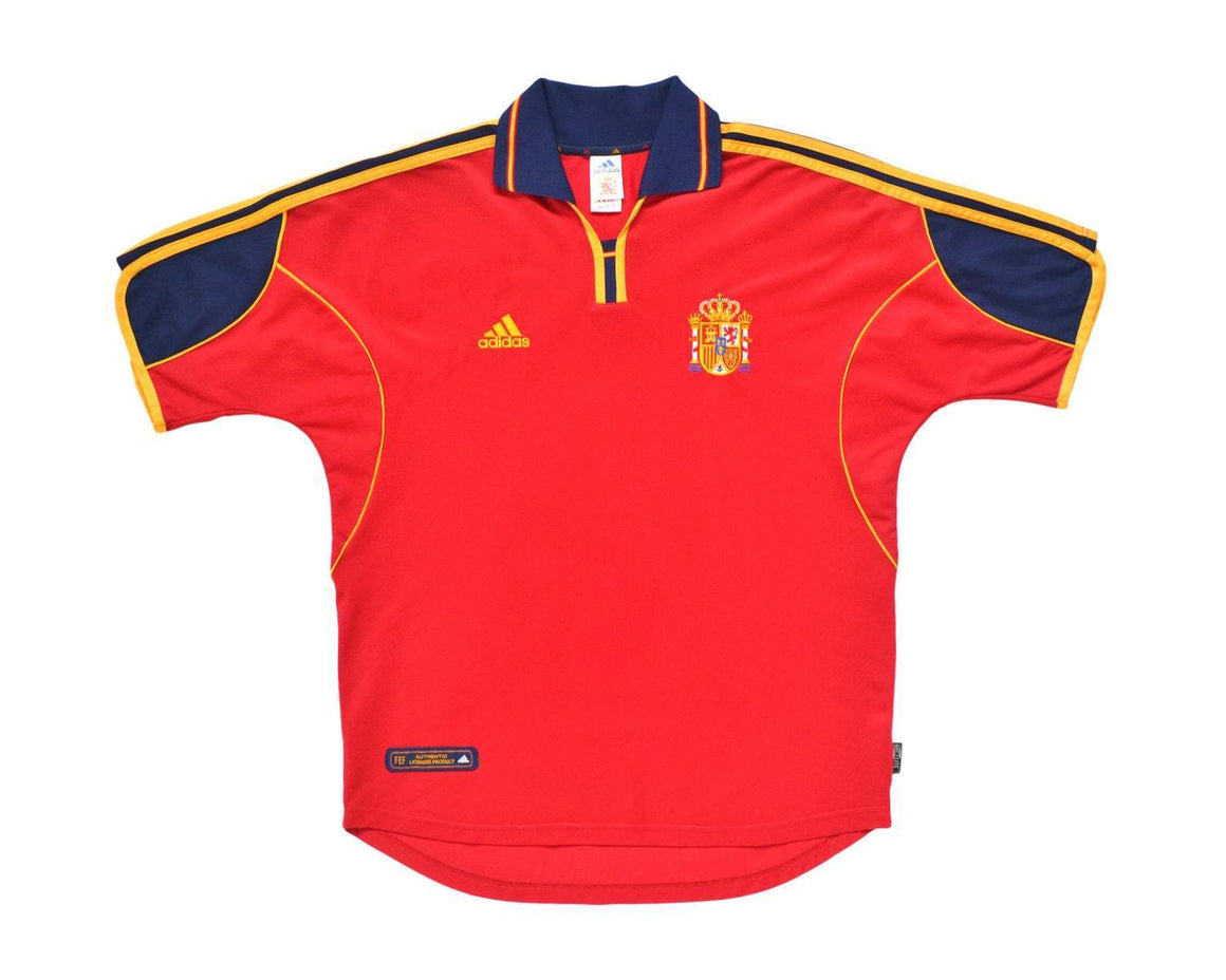 1999-02 Adidas Spain Home Shirt L - Football Shirt Collective