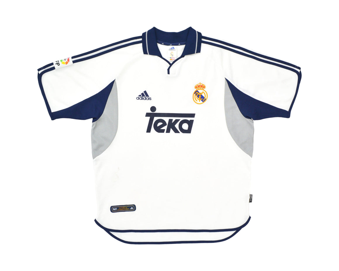 Calcio Vintage Club 2000-01 Adidas Real Madrid Home Shirt L