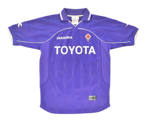 2000-01 Diadora Fiorentina Home Shirt 'Chiesa 20' M - Football Shirt Collective
