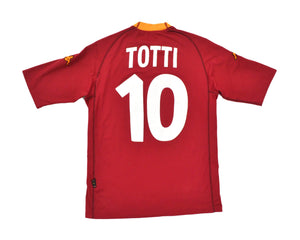 Calcio Vintage Club 2000-01 Kappa Roma Home Shirt 'Totti 10' L
