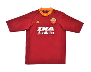 Calcio Vintage Club 2000-01 Kappa Roma Home Shirt XXL