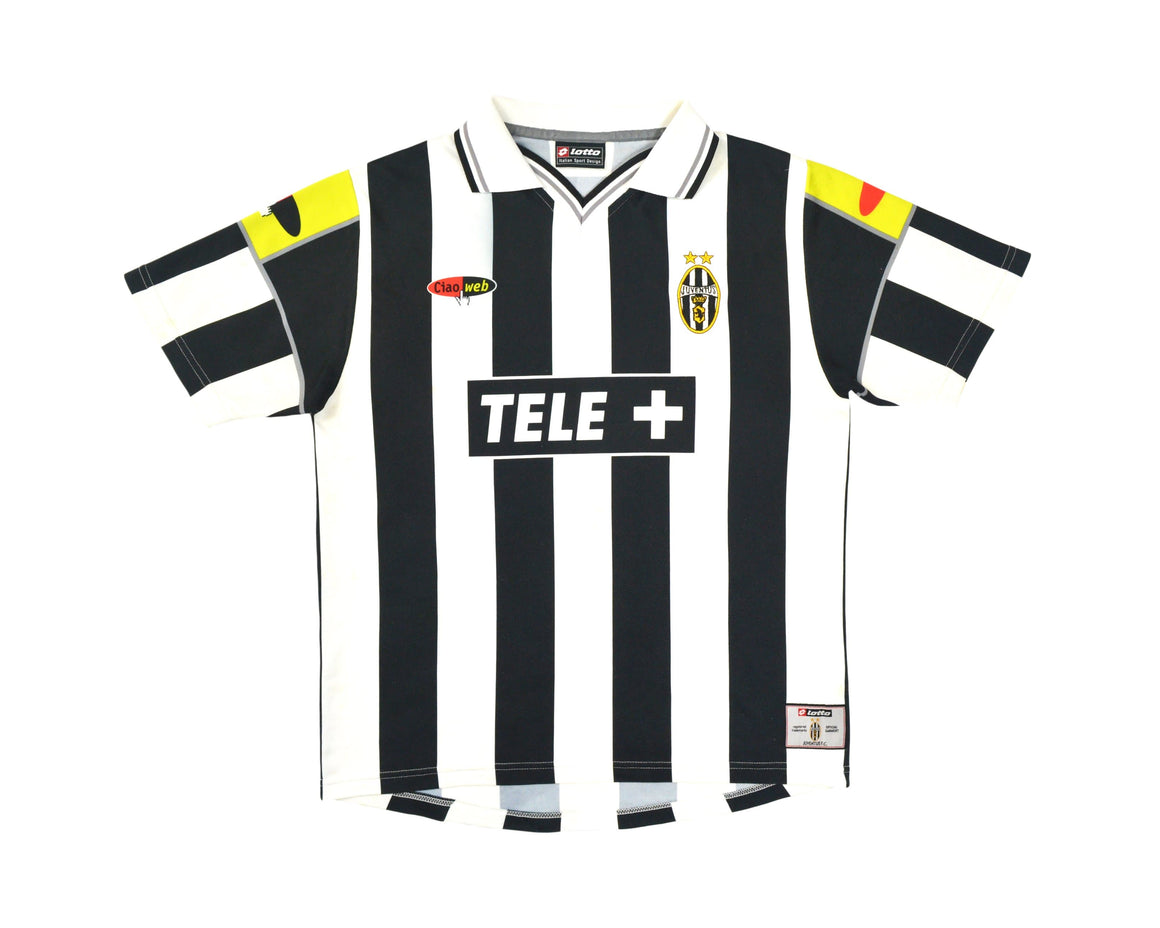 Calcio Vintage Club 2000-01 Lotto Ciao Web Juventus Home Shirt