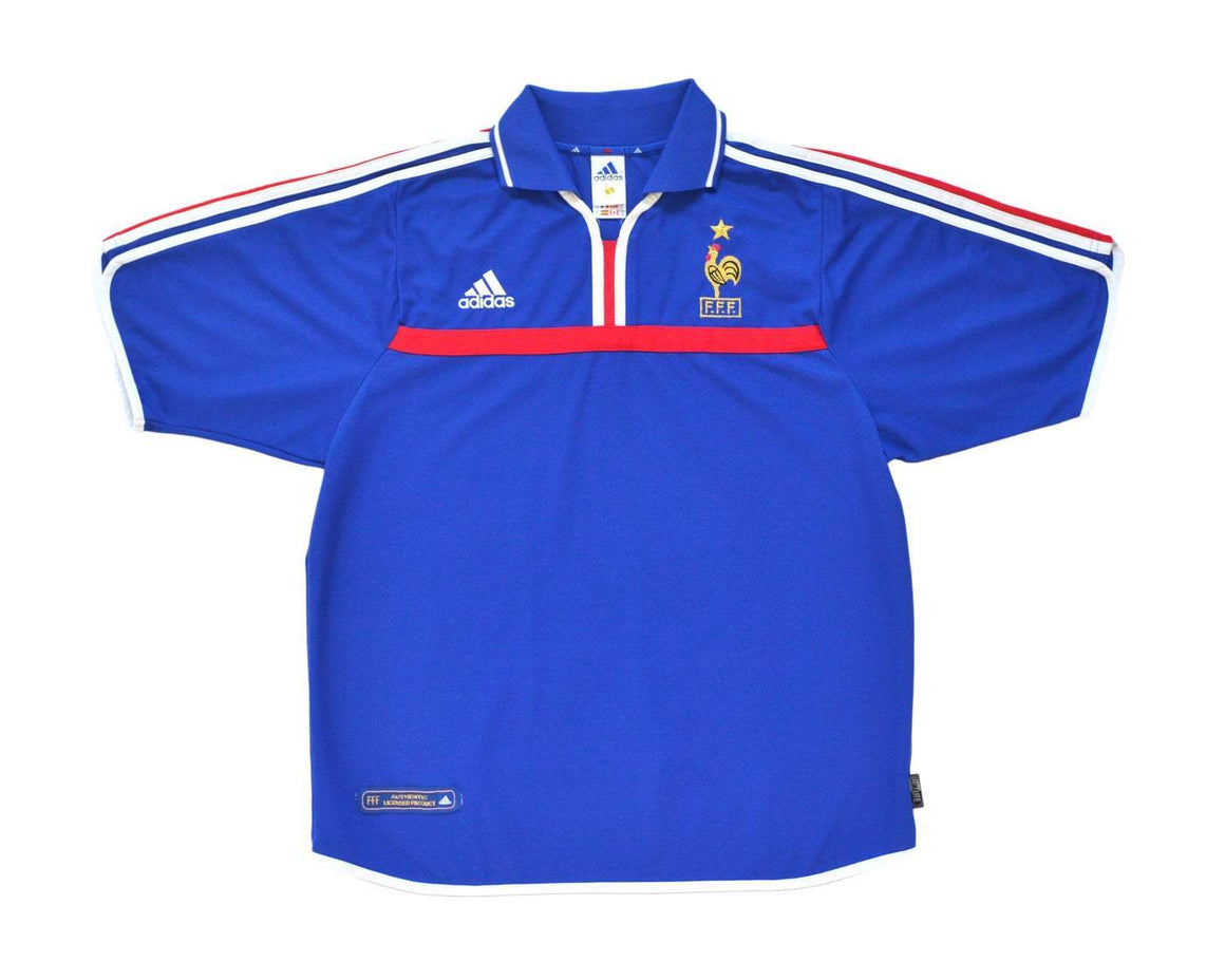 2000-02 Adidas France Home Shirt L - Football Shirt Collective