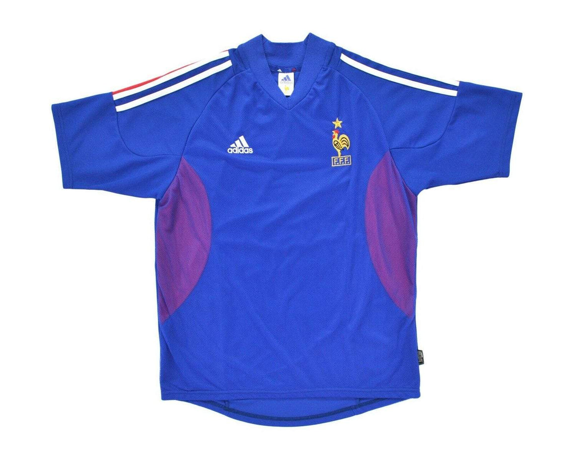 Calcio Vintage Club 2002-04 Adidas France Home Shirt L