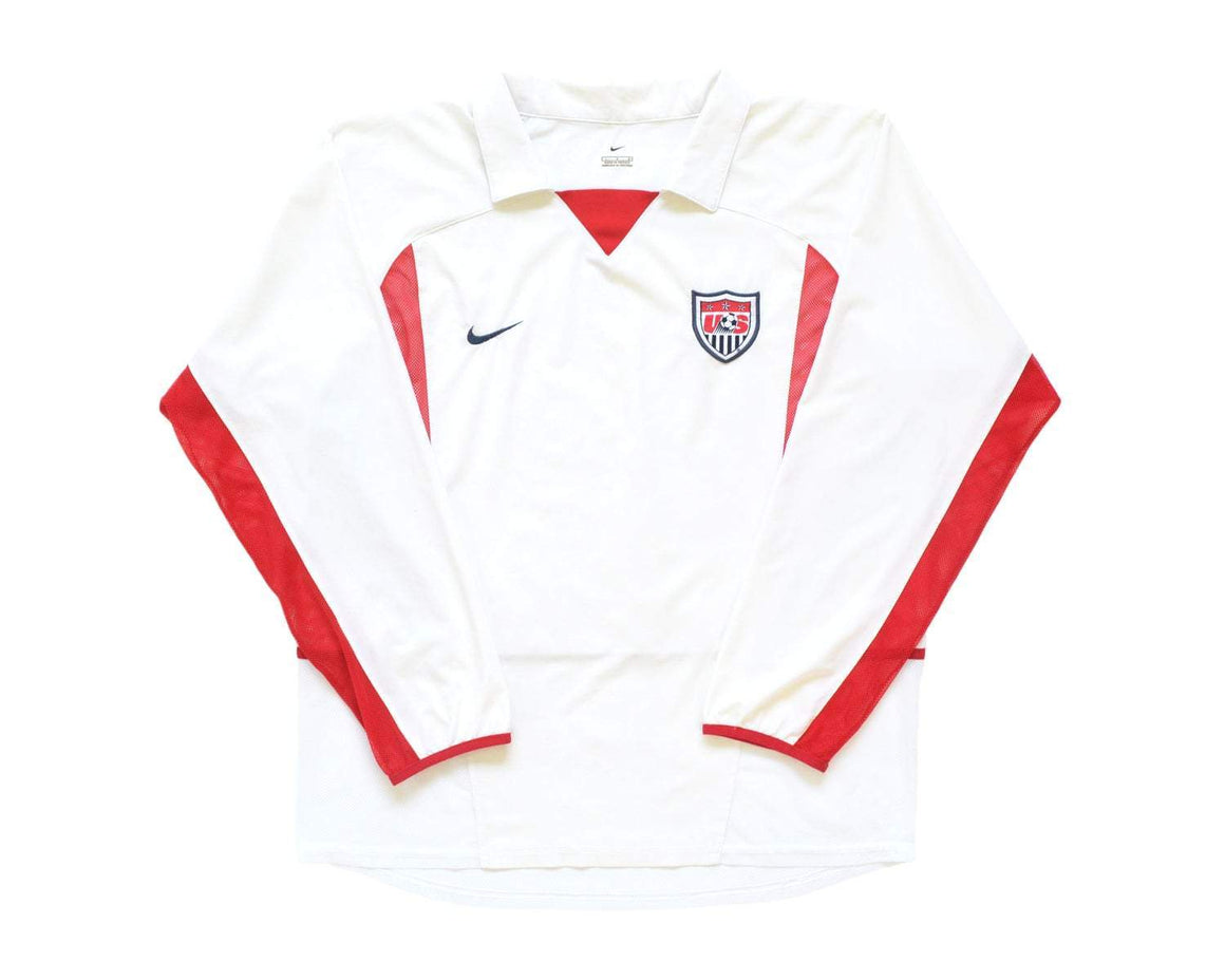 2002-04 Nike USA Home Shirt L - Football Shirt Collective