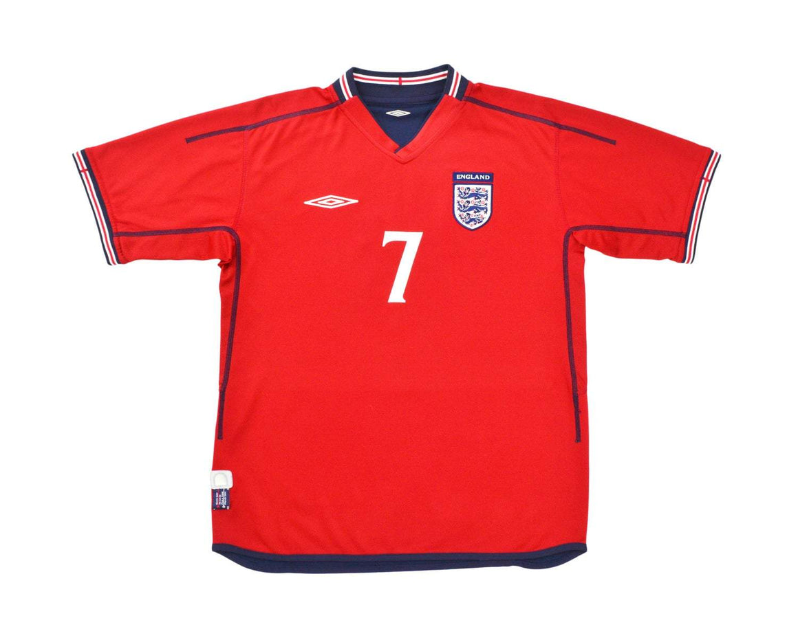 Calcio Vintage Club 2002-04 Umbro England Away Shirt 'Beckham 7' XL