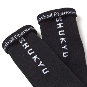 "SHUKYU × CITY BOYS FC ""FOOTBALL PHENOMENOM"" SOCKS [BLACK] - Football Shirt Collective"