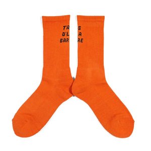 "City Boys FC ""T'AS D'LA BARRE"" City Boys FC socks orange"