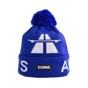 Away Days Bobble Hat | Blue-White - Football Shirt Collective
