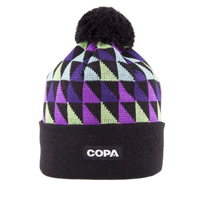 HIguita Bobble Hat | Black Purple Green - Football Shirt Collective