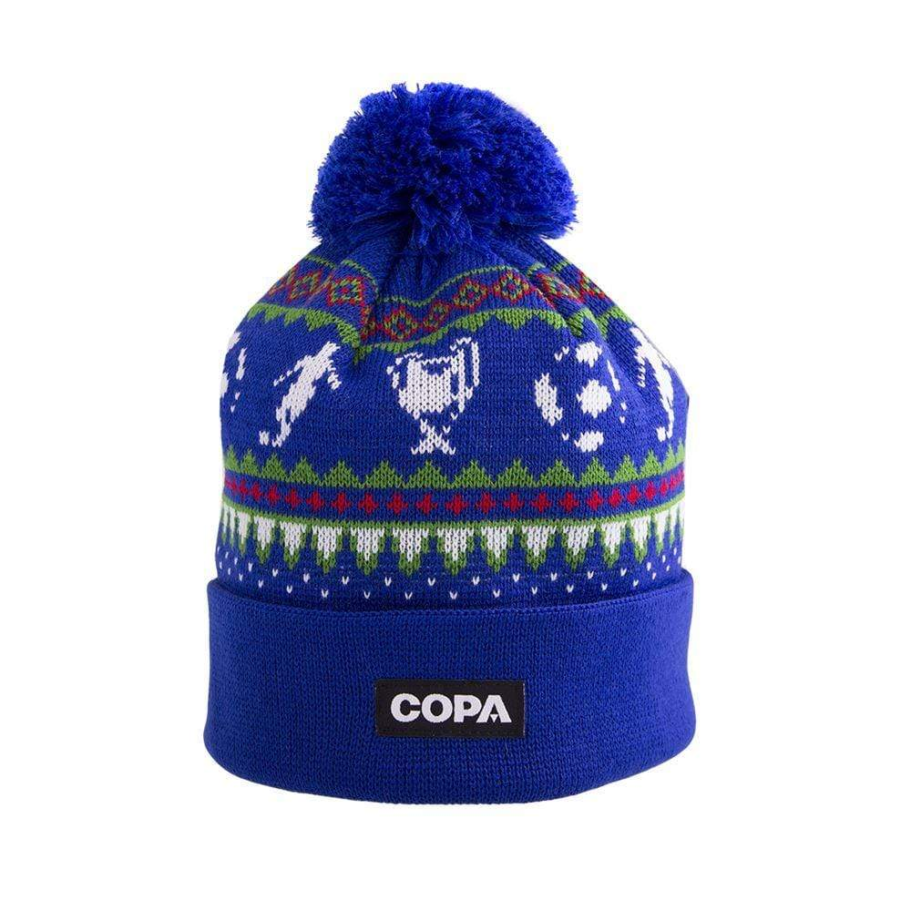 Nordic Knit Bobble Hat | Blue-Red-Green-White - Football Shirt Collective