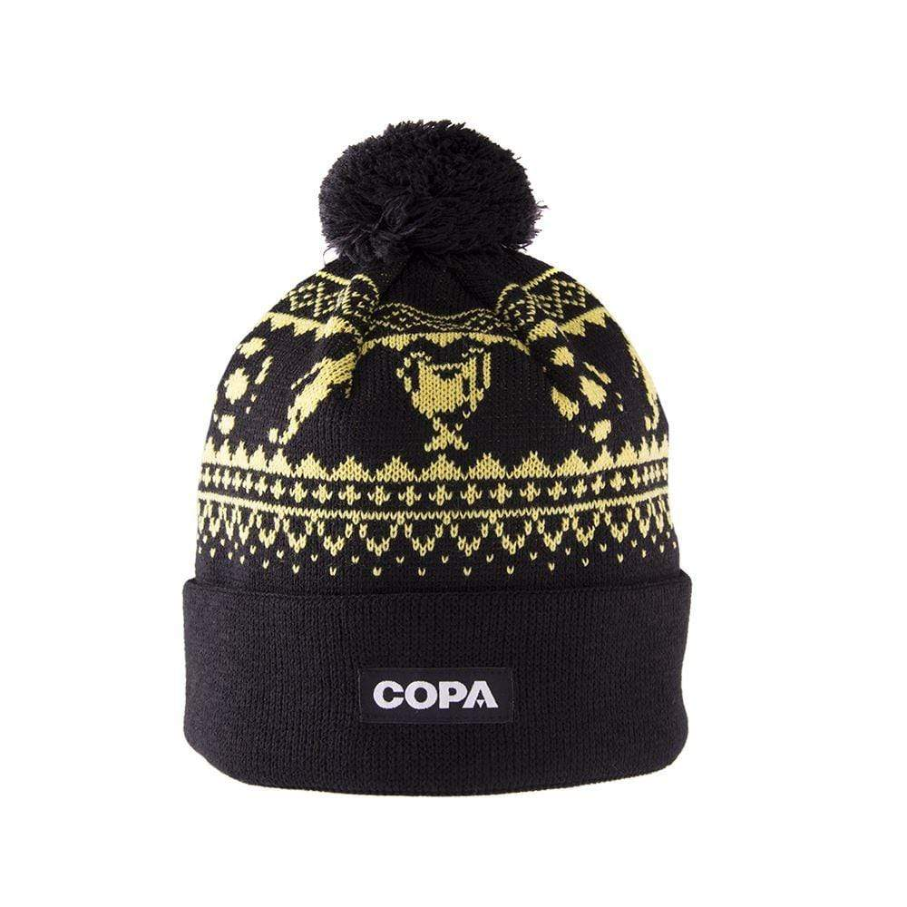 Nordic Knit Bobble Hat | Yellow-Black - Football Shirt Collective