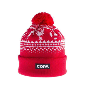 Nordic Knit Bobble Hats | Red-White - Football Shirt Collective