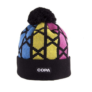 Schmeichel Bobble Hat | Black-Yellow-Pink-Blue - Football Shirt Collective