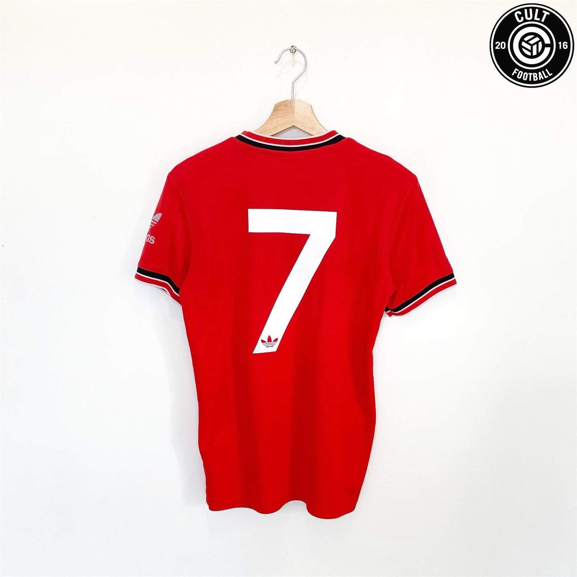 Cult Football 1985 ROBSON #7 Manchester United adidas Originals FA Cup Football Shirt (S)