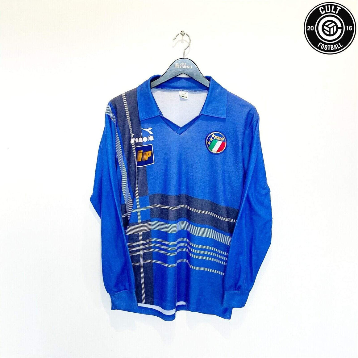 Cult Football 1986/88 ITALY Vintage Diadora Player Issue Football Training Shirt Jersey (M)