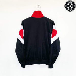 Cult Football 1990/91 Rosenborg BK Vintage Hummel Football Track Top Jacket (S)