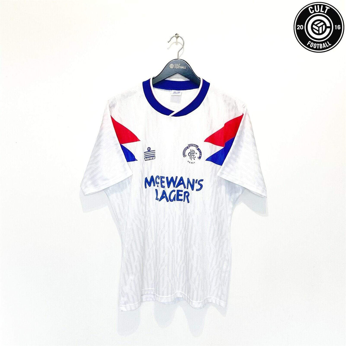 Cult Football 1990/92 RANGERS Vintage Admiral Away Football Shirt Jersey (L) 42/44