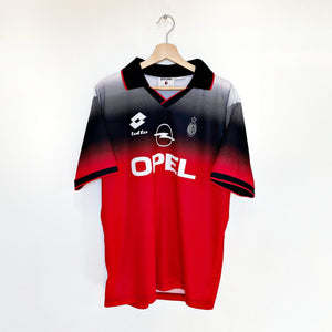 Cult Football 1995/96 AC Milan Vintage Lotto Training Football Shirt Jersey (L) Maldini Era