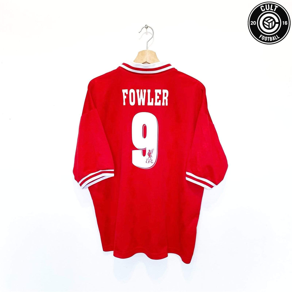Cult Football 1996/97 FOWLER #9 Liverpool Vintage Reebok Home Football Shirt Jersey (XL) 46/48